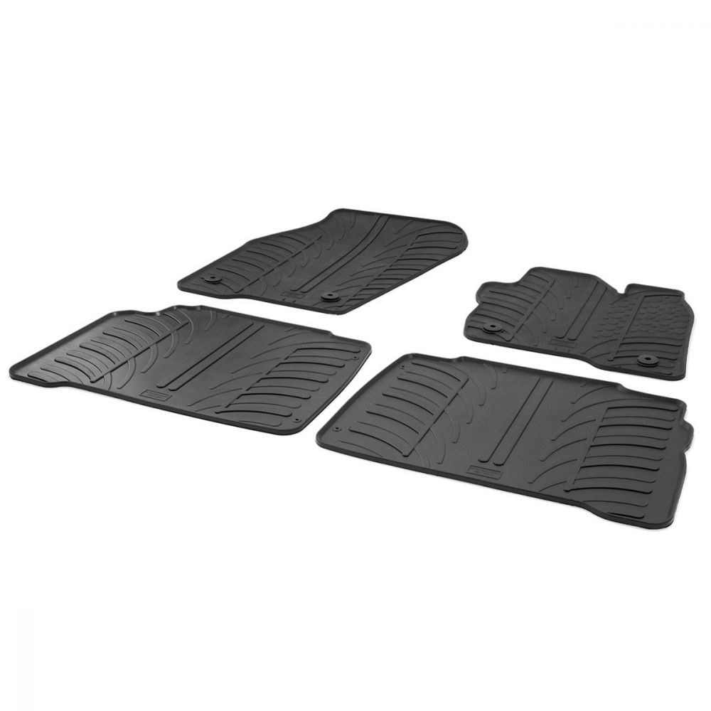 Tailored Black Rubber 4 Piece Floor Mat Set to fit Ford Galaxy Mk.4 (Facelift) 2015 - 2021