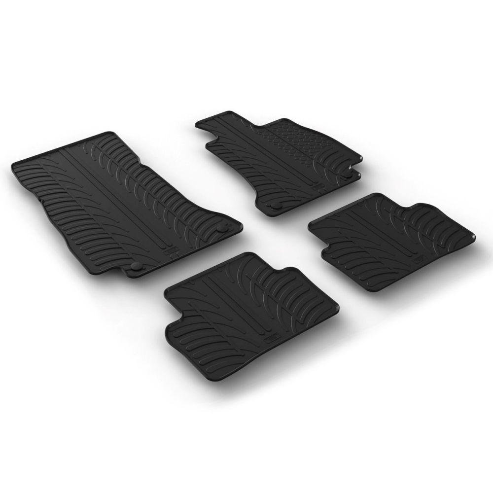 Tailored Black Rubber 4 Piece Floor Mat Set to fit Mercedes E Class Saloon (W213) & Estate (S213) 2016 - 2021