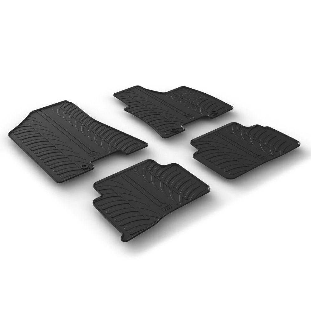 Tailored Black Rubber 4 Piece Floor Mat Set to fit Hyundai Tucson Mk.2 2015 - 2020