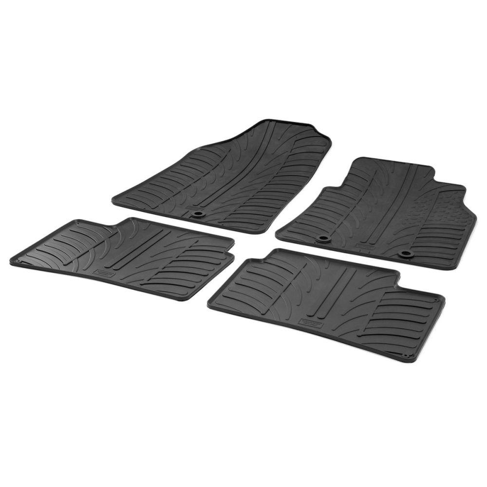 Tailored Black Rubber 4 Piece Floor Mat Set to fit Hyundai i10 Mk.2 2014 - 2020