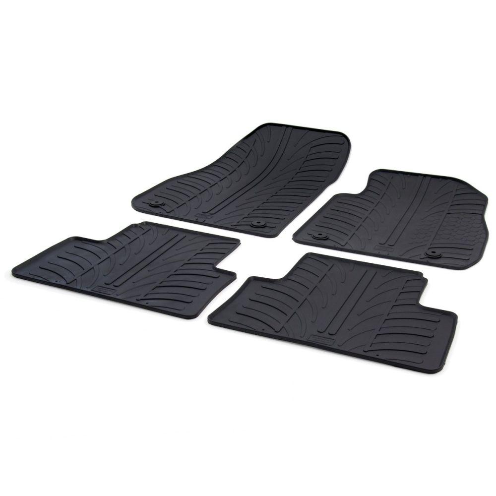 Tailored Black Rubber 4 Piece Floor Mat Set to fit Vauxhall Zafira Tourer (C) Mk.3 2011 - 2019