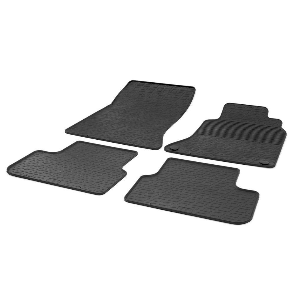 Tailored Black Rubber 4 Piece Floor Mat Set to fit Mercedes A Class (W176) 2012 - 2018