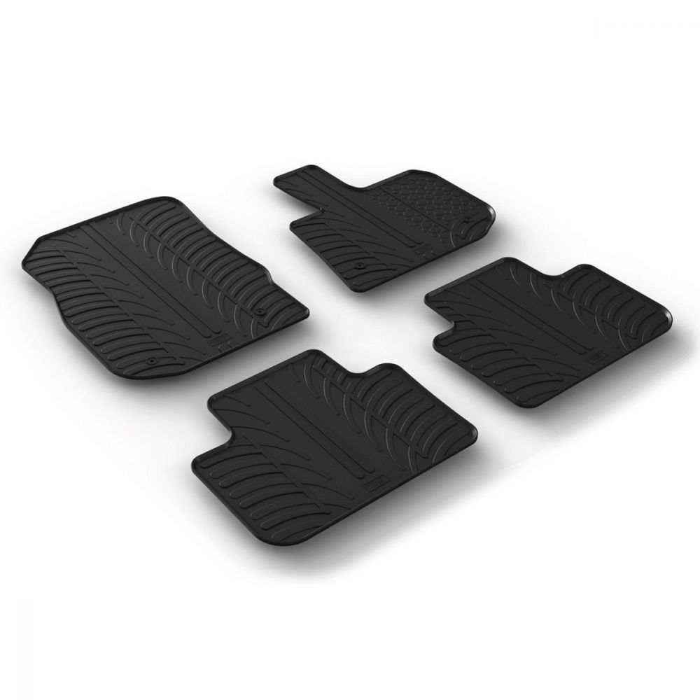 Tailored Black Rubber 4 Piece Floor Mat Set to fit BMW X3 (G01) 2017 - 2021