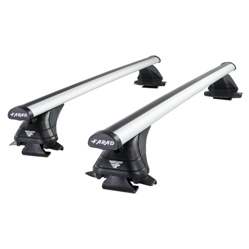 Pro Aero Silver Aluminium Roof Bars to fit SsangYong Korando Mk.3 2011 - 2019 (Open Roof Rails)