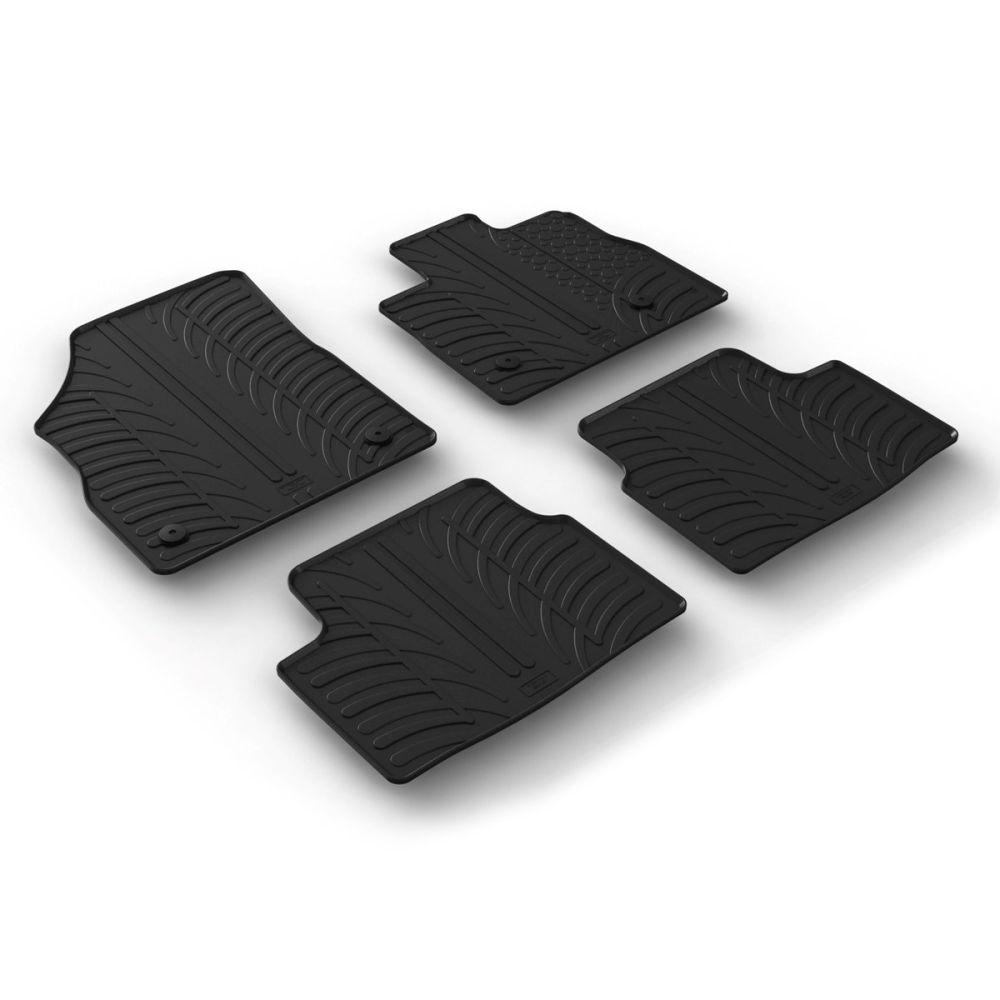 Tailored Black Rubber 4 Piece Floor Mat Set to fit Vauxhall Astra Hatchback & Sports Tourer (K) Mk.7 2016 - 2021