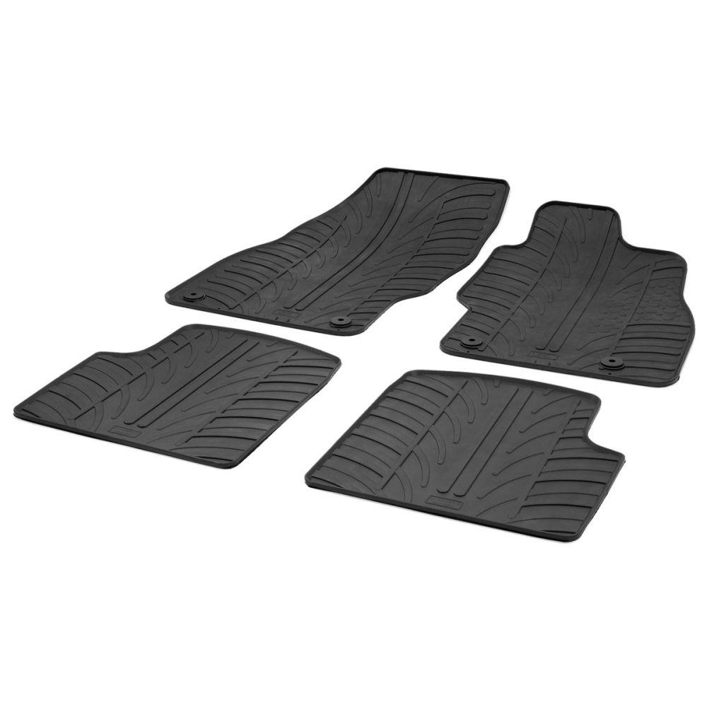 Tailored Black Rubber 4 Piece Floor Mat Set to fit Vauxhall Corsa (D) Mk.3 2006 - 2015