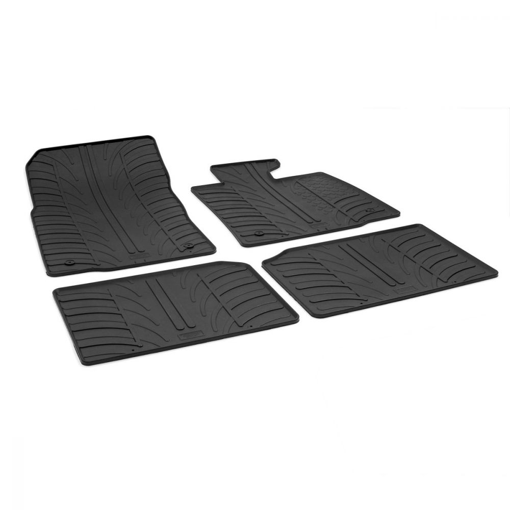 Tailored Black Rubber 4 Piece Floor Mat Set to fit Mini Countryman (R60) 2010 - 2016