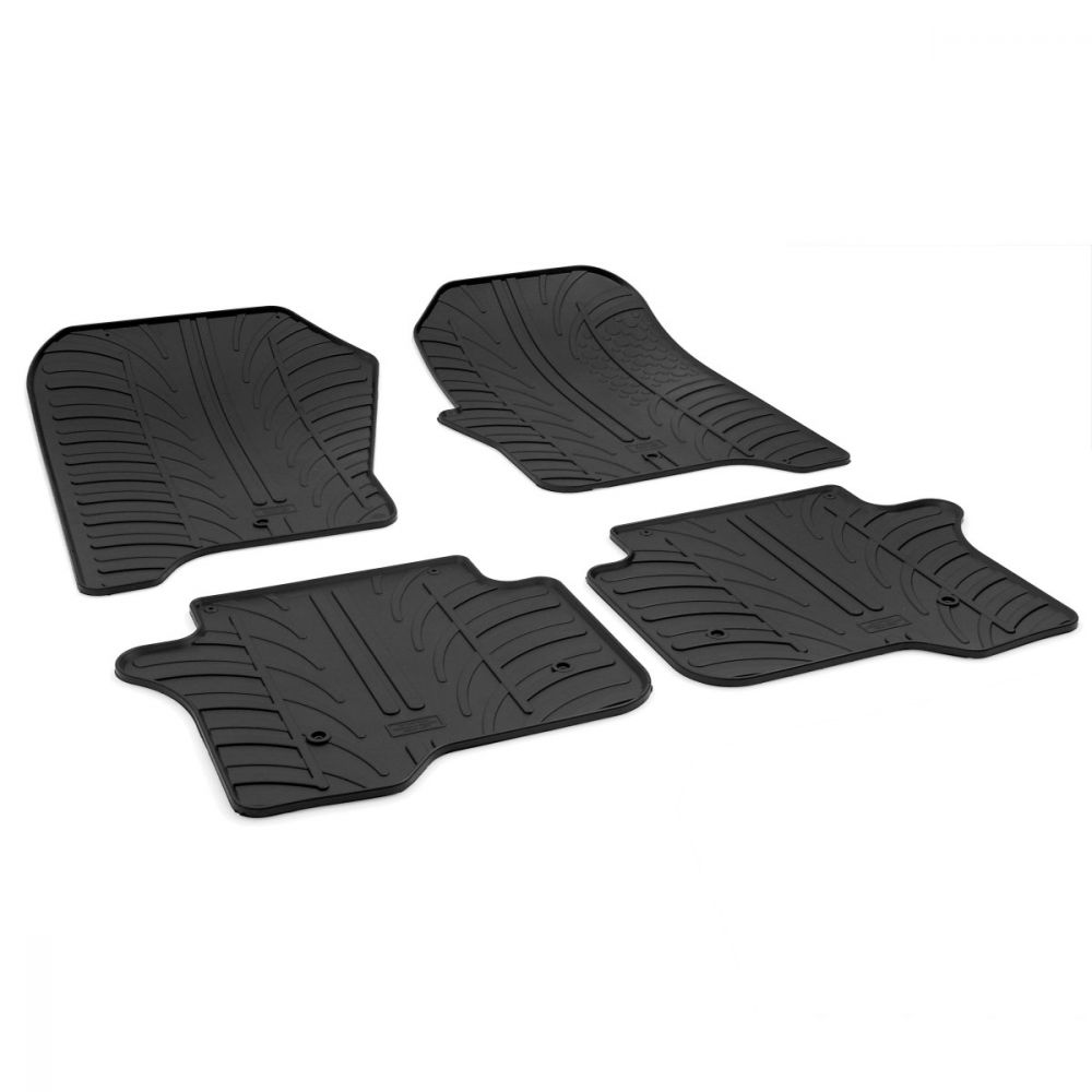 Tailored Black Rubber 4 Piece Floor Mat Set to fit Land Rover Discovery 4 2009 - 2016