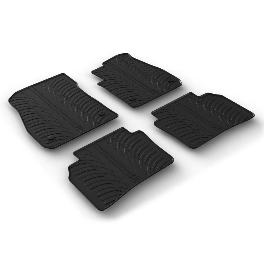 Tailored Black Rubber 4 Piece Floor Mat Set to fit Vauxhall Insignia Grand Sport & Sports Tourer Mk.2 2017 - 2020