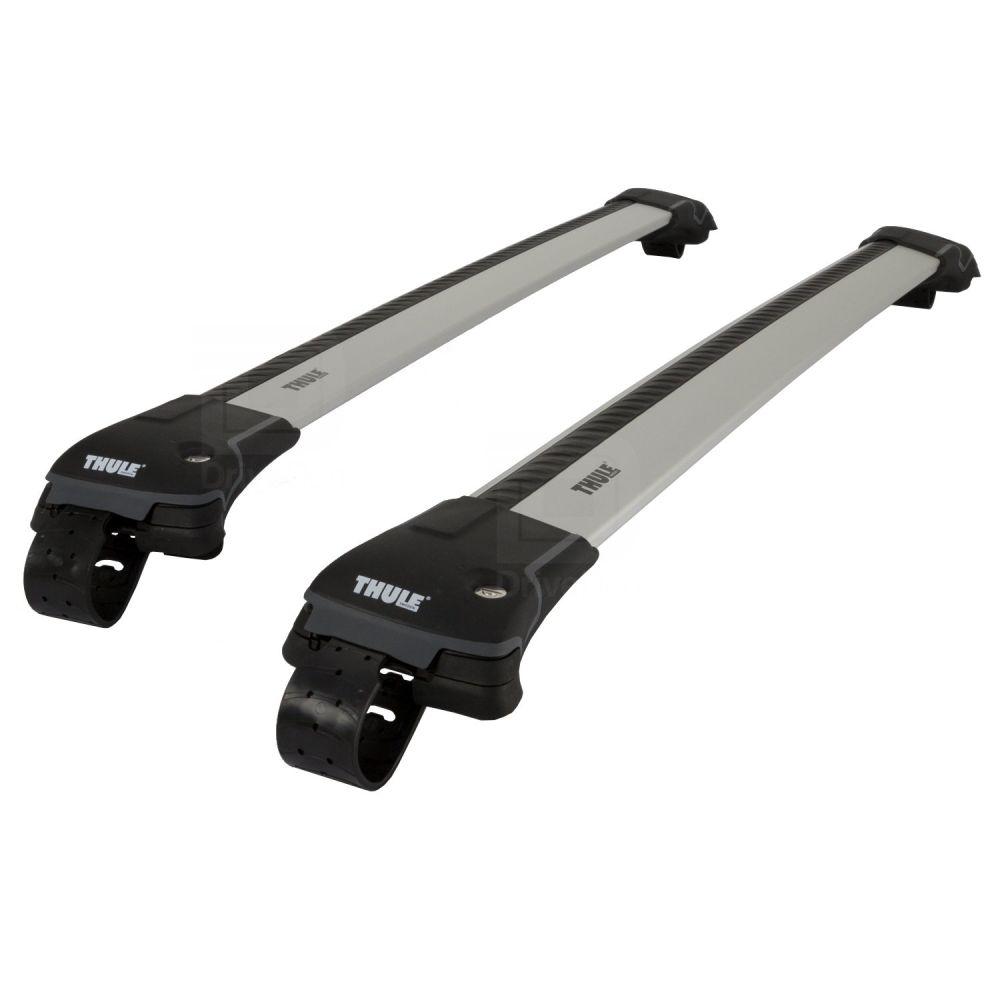 WingBar Edge Silver Aluminium Roof Bars to fit Ford Kuga Mk.2 2013 - 2019 (Open Roof Rails)