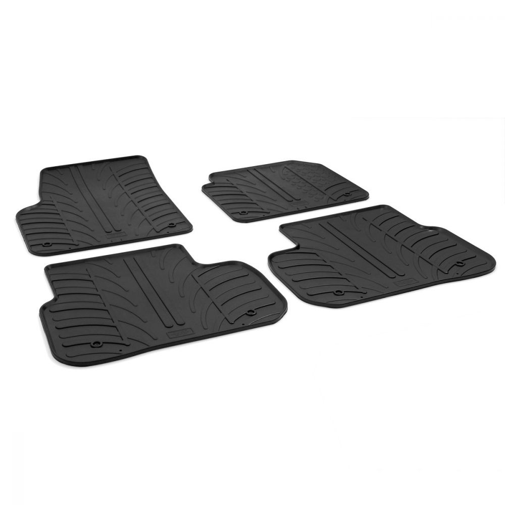 Tailored Black Rubber 4 Piece Floor Mat Set to fit Land Rover Discovery Sport 2014 - 2019