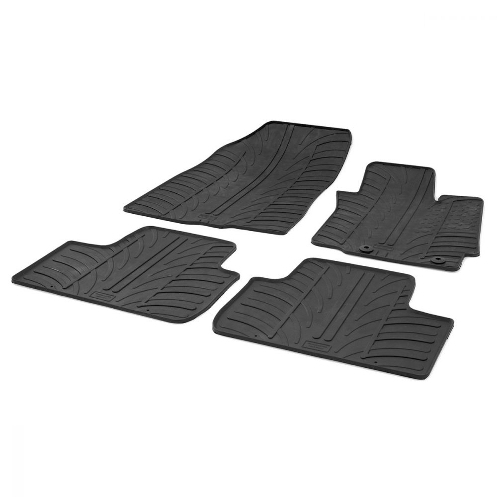 Tailored Black Rubber 4 Piece Floor Mat Set to fit Mitsubishi ASX 2010 - 2021