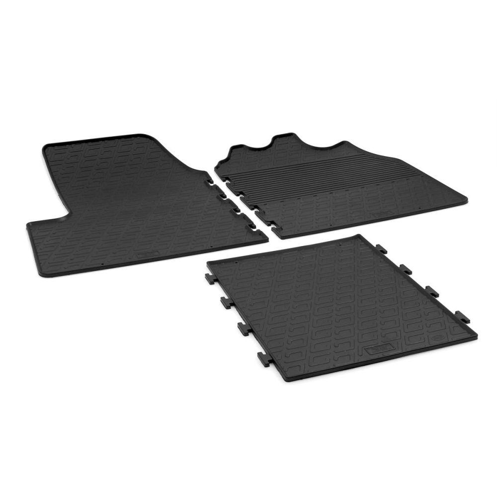 Tailored Black Rubber 3 Piece Floor Mat Set to fit Citroen Relay Van Mk.3/4 (Manual) 2014 - 2021