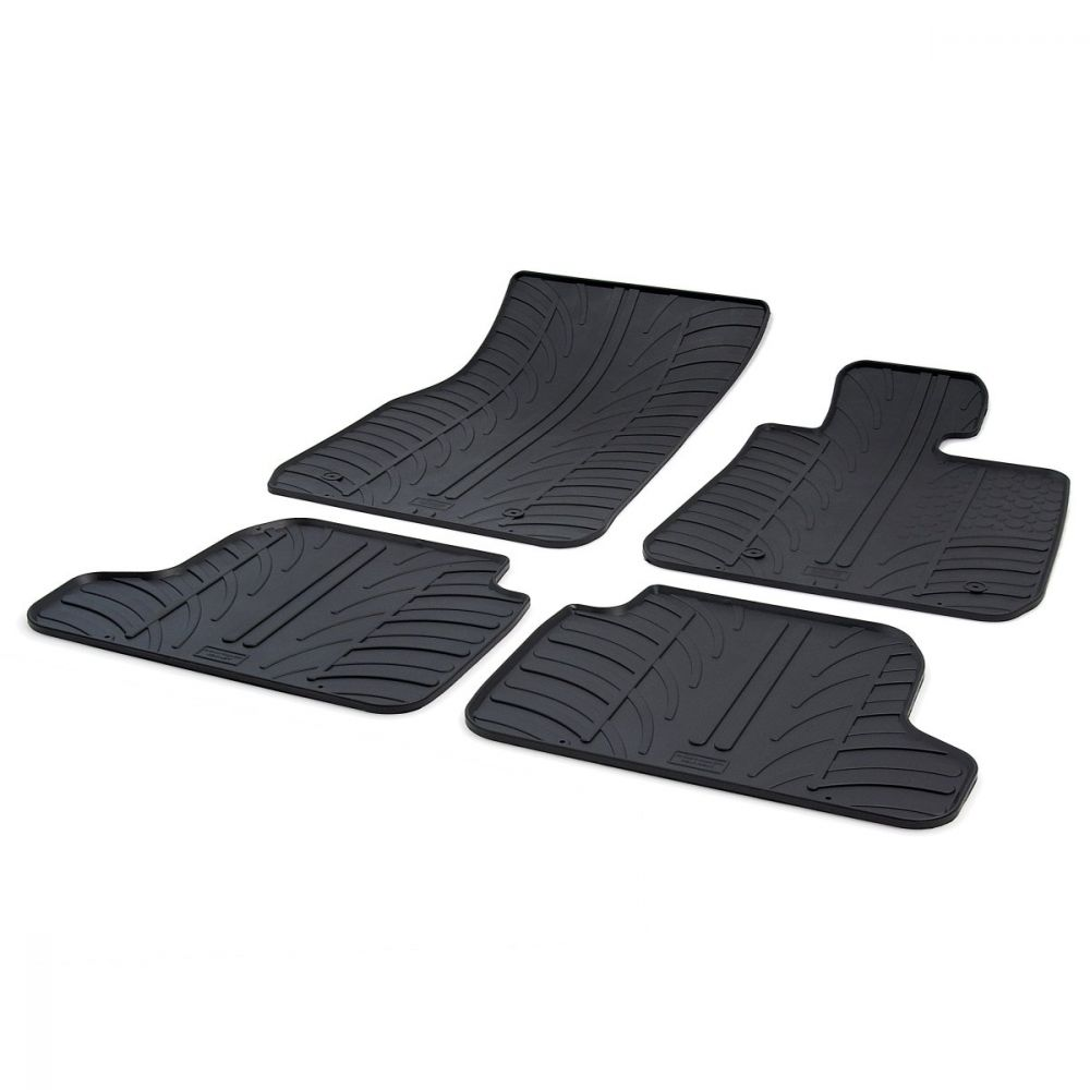 Tailored Black Rubber 4 Piece Floor Mat Set to fit BMW 2 Series Coupe (F22) 2014 - 2021