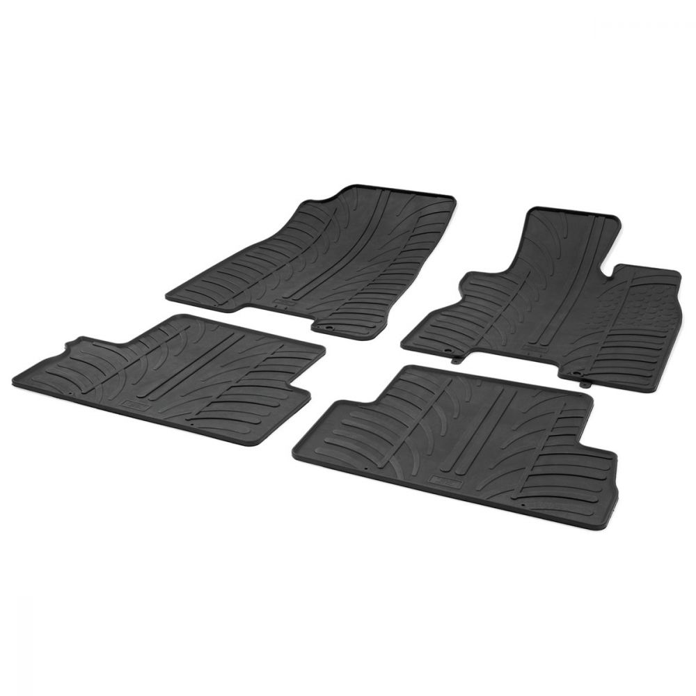 Tailored Black Rubber 4 Piece Floor Mat Set to fit Nissan X-Trail Mk.2 2007 - 2014