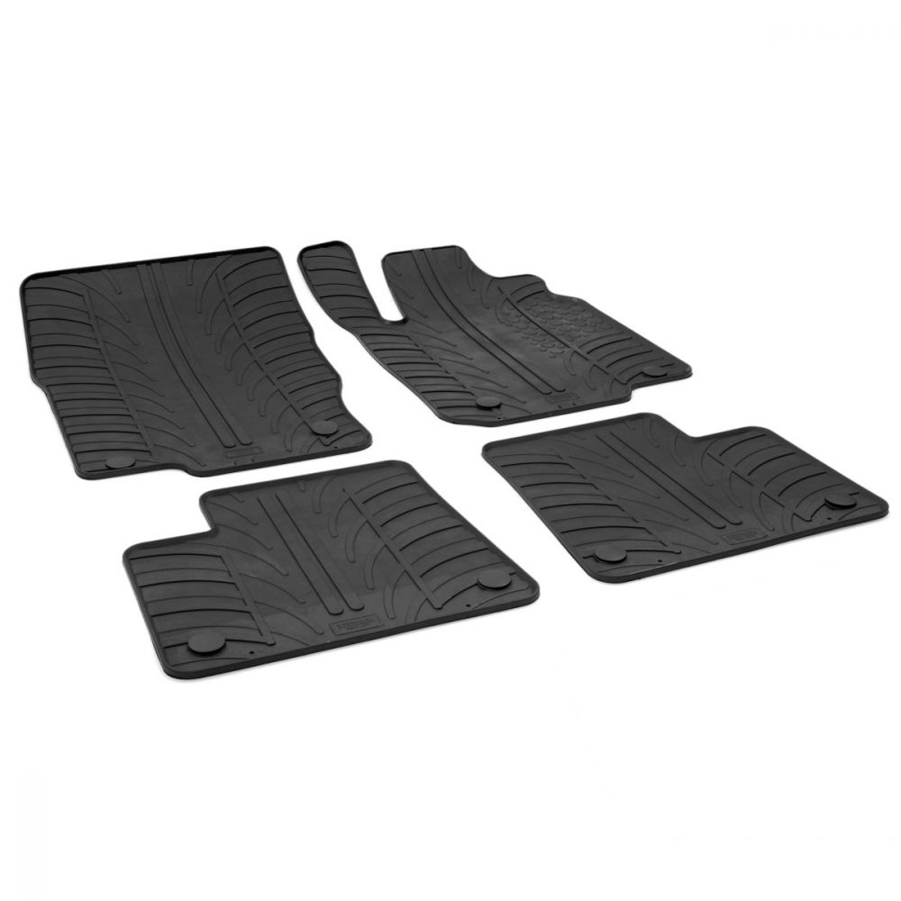 Tailored Black Rubber 4 Piece Floor Mat Set to fit Mercedes GLE Coupe (C292) 2015 - 2021