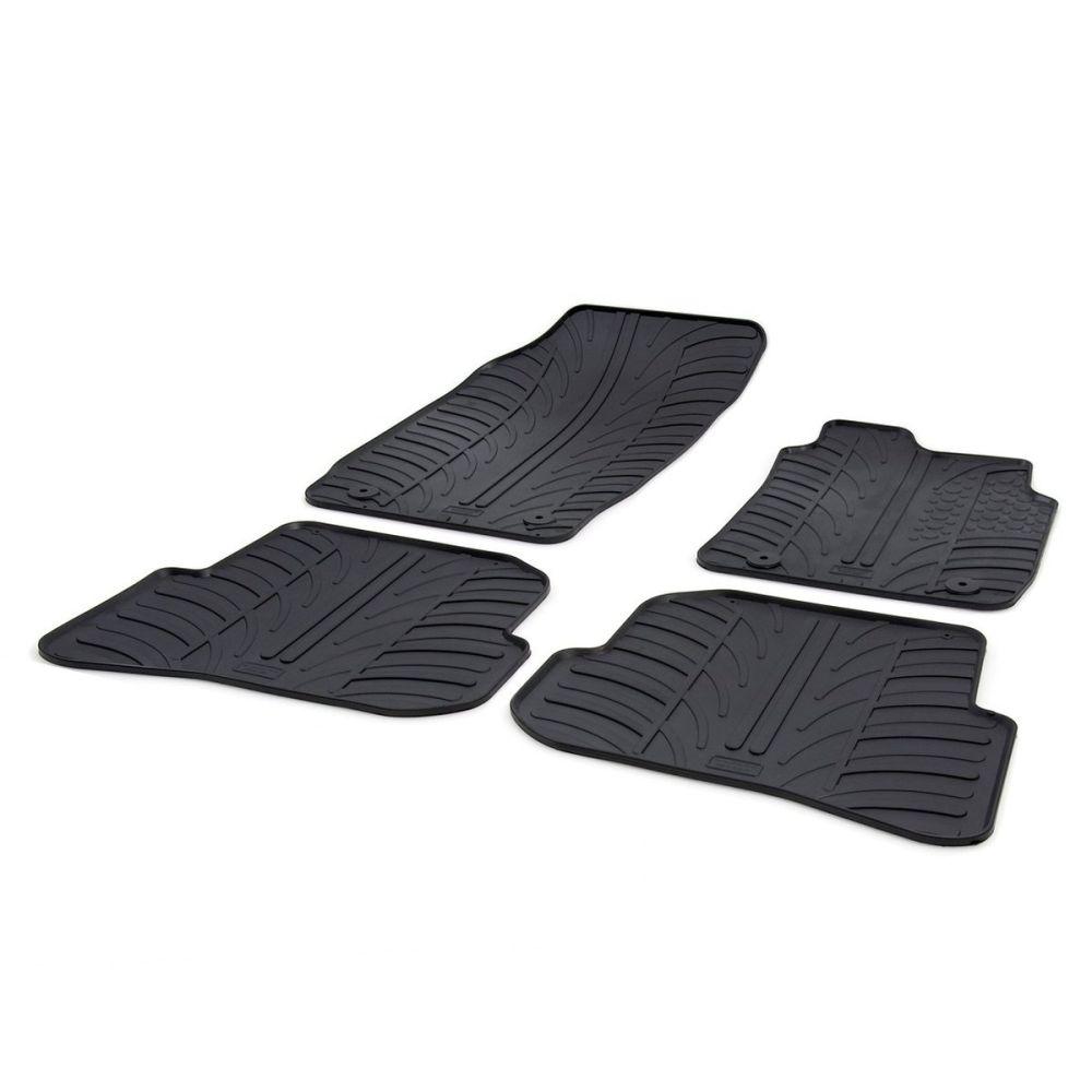 Tailored Black Rubber 4 Piece Floor Mat Set to fit Audi A1 Sportback Mk.1 (5 Door) 2010 - 2018