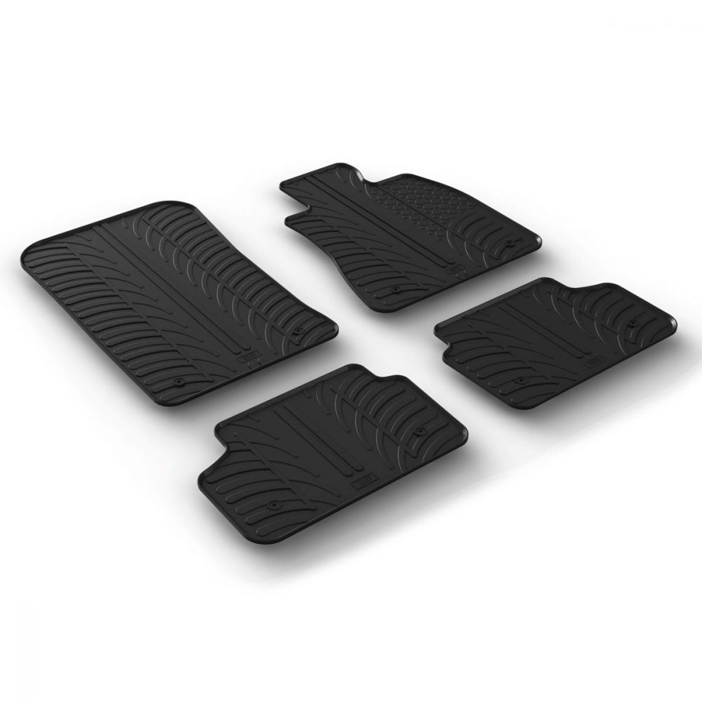 Tailored Black Rubber 4 Piece Floor Mat Set to fit BMW 5 Series (G30/G31) 2017 - 2021