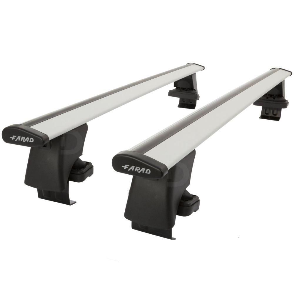Wing Silver Aluminium Roof Bars to fit Honda Insight 2009 - 2014 (No Roof Rails)