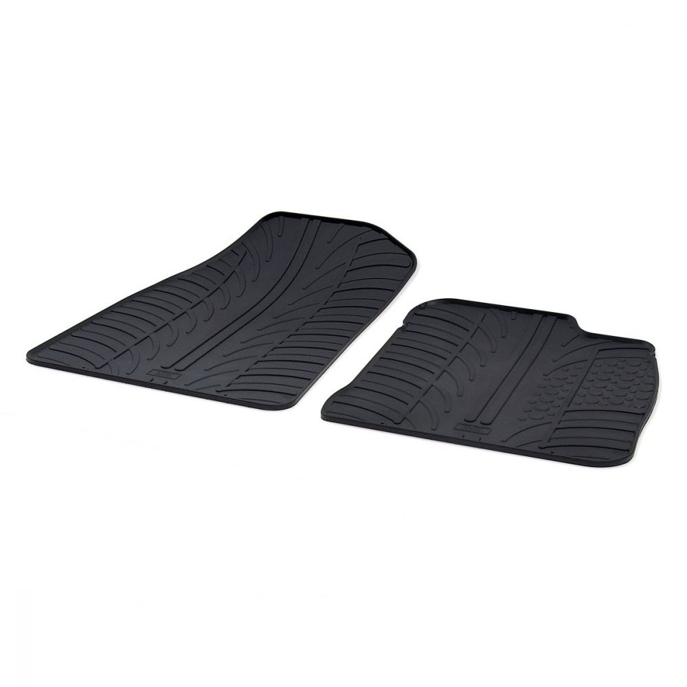 Tailored Black Rubber 2 Piece Floor Mat Set to fit Ford Transit Courier Van 2014 - 2021