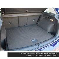 Tailored Black Boot Liner to fit Volkswagen Tiguan Mk.2 2016 - 2021 (with Raised Boot Floor)
