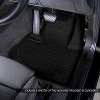 Tailored Black Rubber 3 Piece Floor Mat Set to fit Volkswagen Transporter T6 & T6.1 Kombi 2015 - 2021