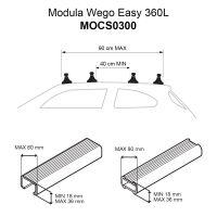 Wego Easy 360L Gloss Black Roof Box