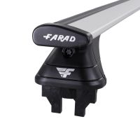Pro Wing Silver Aluminium Roof Bars to fit Fiat Panda Mk.2 2012 - 2021 (Fixed Point Roof)