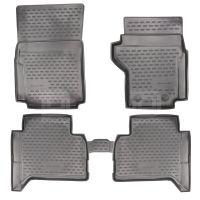 Tailored Black Rubber 4 Piece Floor Mat Set to fit Volkswagen Amarok (Double Cab) 2011 - 2020