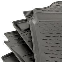 Tailored Black Rubber 4 Piece Floor Mat Set to fit Toyota Hilux (Double Cab) 7th Gen (Facelift) 2008 - 2012