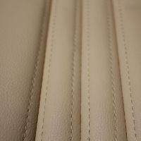 Ravenna Faux Cream Leather Car Seat Cushion