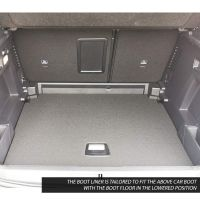 Tailored Black Boot Liner to fit Peugeot 3008 Mk.2 (Excl. Hybrid) 2017 - 2021 (with Lowered Boot Floor)