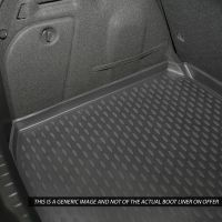 Tailored Black Boot Liner to fit Peugeot 3008 Mk.2 (Excl. Hybrid) 2017 - 2021 (with Raised Boot Floor)