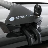 Oval Aluminium Black Roof Bars to fit BMW X1 (F48) 2015 - 2021 (Closed Roof Rails)