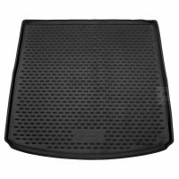 Tailored Black Boot Liner to fit Seat Leon ST Estate Mk.3 2014 - 2020 (with Raised Boot Floor)