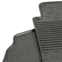 Tailored Black Rubber 2 Piece Floor Mat Set to fit Ford Transit Custom Van 2012 - 2021