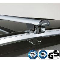 Aero Silver Aluminium Roof Bars to fit BMW X6 (F16) 2015 - 2019 (Closed Roof Rails)