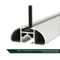Aero Silver Aluminium Roof Bars to fit Audi A4 Allroad (B8) 2008 - 2015 (Open Roof Rails)