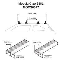 Ciao 340L Gloss Black Roof Box