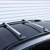 Oval Aluminium Silver Roof Bars to fit Audi A6 Avant (C4) 1994 - 1997 (Open Roof Rails, Estate)
