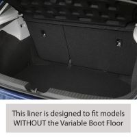 Tailored Black Boot Liner to fit Seat Leon Hatchback (5 Door) Mk.3 2013 - 2020 (without Variable Boot Floor)