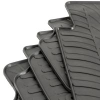 Tailored Black Rubber 5 Piece Floor Mat Set to fit Citroen Berlingo Multispace Mk.2 2008 - 2018