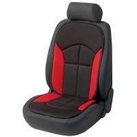 Novara Black/Red Car Seat Cushion