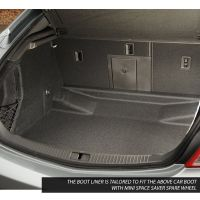 Tailored Black Boot Liner to fit Vauxhall Insignia Saloon Mk.1 2008 - 2017 (with Mini Space Saver Spare Wheel)