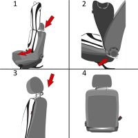 Grafis Black/Grey Car Seat Cushion