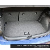 Tailored Black Boot Liner to fit Volkswagen Polo Mk.6 2018 - 2021 (with Raised Boot Floor)