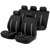 Hastings Premium Black/Grey Car Seat Cover Set