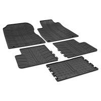 Tailored Black Rubber 5 Piece Floor Mat Set to fit Honda CR-V Mk.4 2012 - 2018