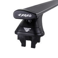 Pro Wing Black Aluminium Roof Bars to fit Fiat Panda Mk.2 2012 - 2021 (Fixed Point Roof)