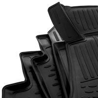 Tailored Black Rubber 4 Piece Floor Mat Set to fit Mercedes E Class Saloon (W212) & Estate (S212) 2009 - 2013